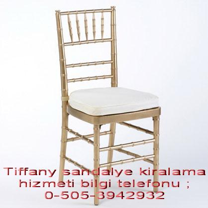 altın varak tiffany sandalye kiralama