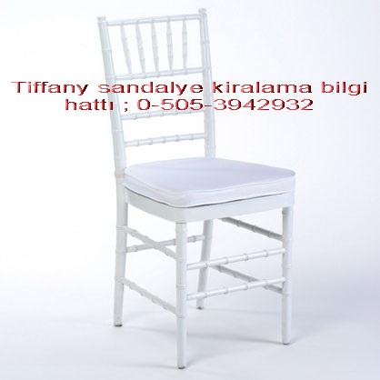 tiffany sandalye kiralama